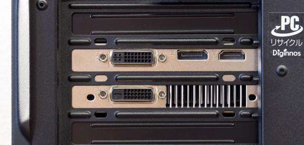 映像出力には、GTX960に搭載されている端子を使います。