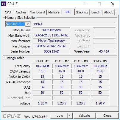 試用機ではMicronの4GBメモリー×2が使われていました