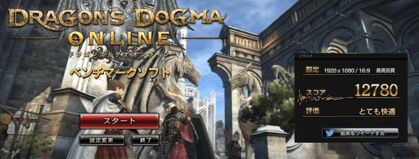 新モデルの「ドラゴンズドクマオンライン ベンチマークソフト」結果