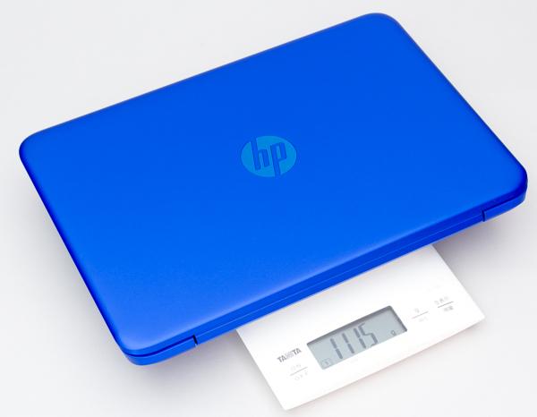 重量は実測で1.115kgでした
