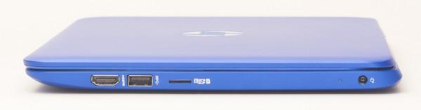 左側面にはHDMI端子、USB3.0端子、microSD/SDHC/SDXC対応メモリーカードスロットが用意されています