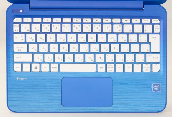 HP Stream 11のキーボード。キーピッチは18.9mm