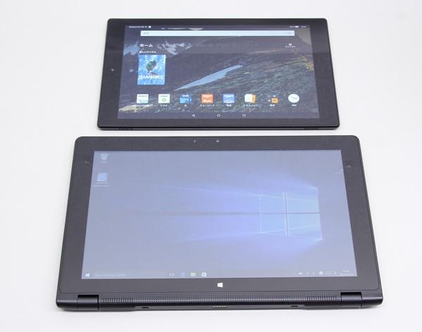 10.1型のAmazon Fire HD 10との大きさの比較