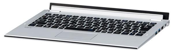 上位モデルと中位モデルに付属の「モバイルパワーキーボード」