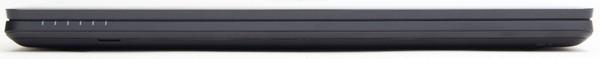 最薄部の本体前面は、高さ25.6mm