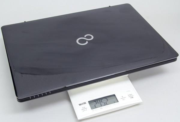 重さは実測で2.452kgでした