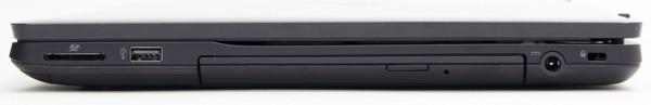右側面にはダイレクト・メモリーカードスロット(SD/SDHC/SDXC対応)、BDXL対応ブルーレイディスクドライブ、電源コネクターが用意されています