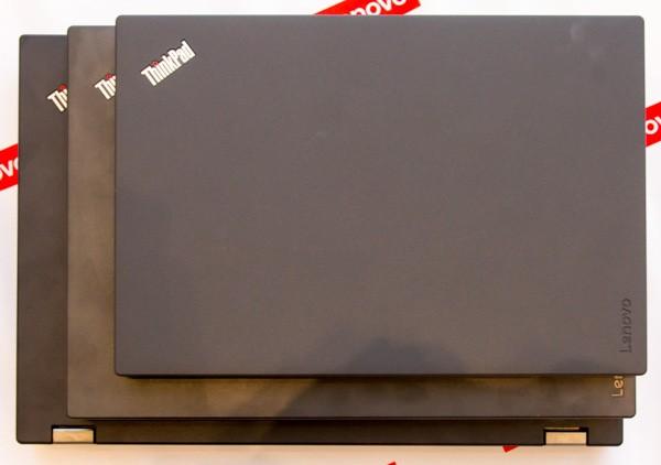 12.5型のThinkPad X260と、14型「ThinkPad L460」、15.6型「ThinkPad L560」とのサイズの違い