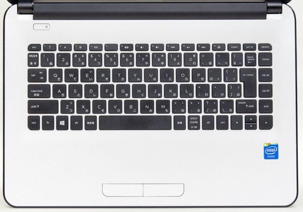 HP 14-ac100のキーボード