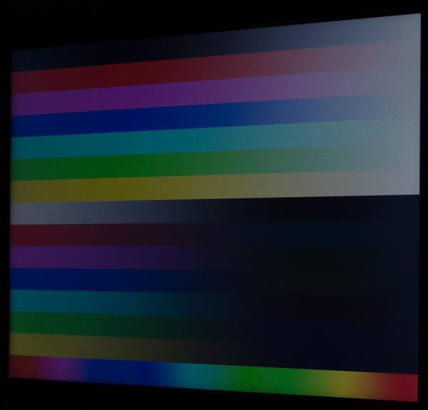 映像を横から見ると、コントラストが大きく低下します。視野角はそれほど広くありません