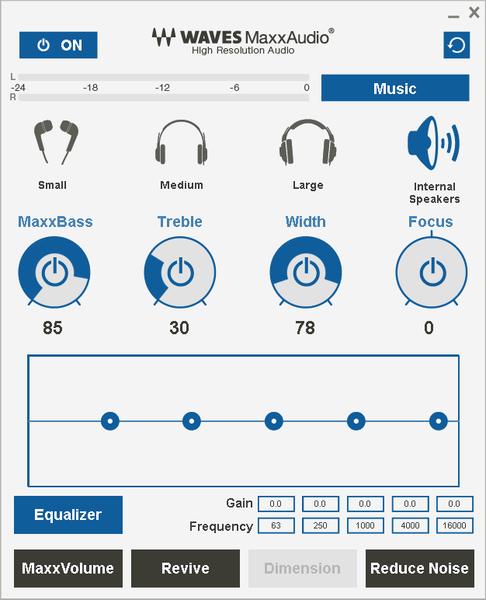 付属ユーティリティーで、サウンドを自分好みに調整できます