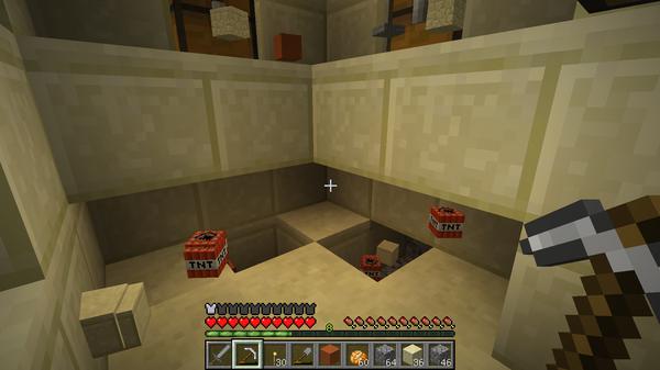 普通に採掘するようにTNTを回収します