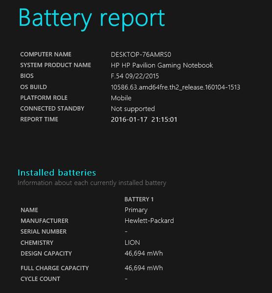 設計上の(バッテリー)容量は46694mWhでした