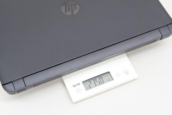 本体の重量は実測で2.35kg