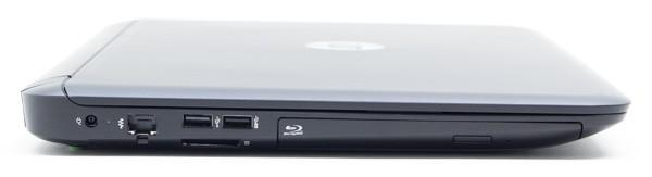 右側面には電源コネクター、有線LAN、USB2.0、USB3.0、光学ドライブが用意されています