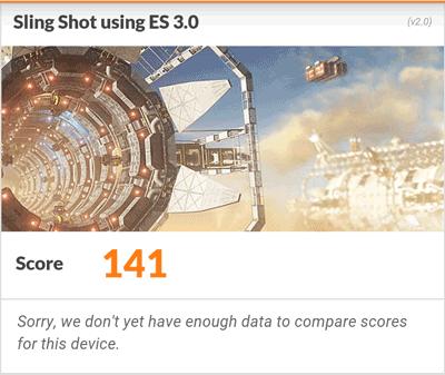 「Sling Shot」は、なんとか動いたというレベルの結果です