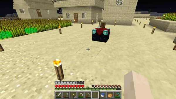 とりあえず、村のなかにエンチャントテーブルを配置しました