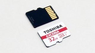 32GBで約800円の東芝製microSDHCカード EXCERIA海外版を試す