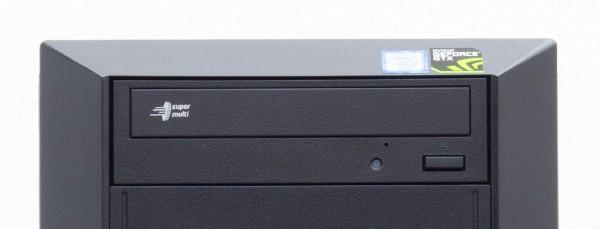 光学ドライブとしてDVDスーパーマルチドライブを標準搭載。BTOでブルーレイディスクドライブに変更可能です