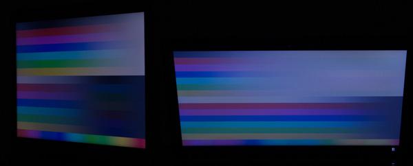 パソコンではよく使われるTNパネルを採用しています。視野角はそれほど広くありませんでした