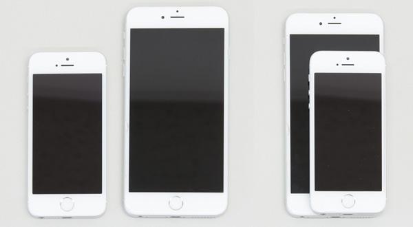 iPhone SEとiPhone 6 Plusのサイズ比較