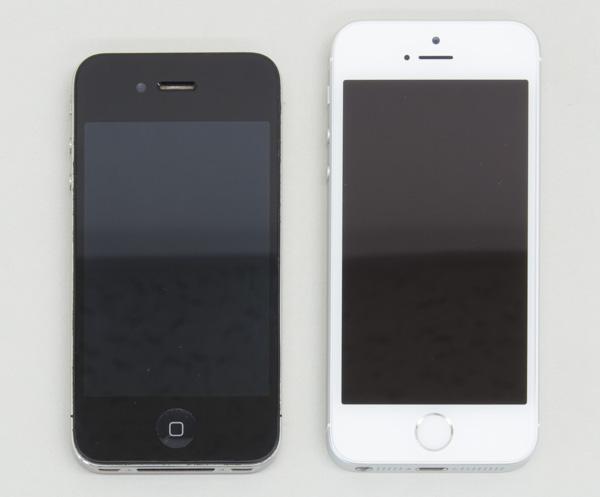 iPhone 4(幅58.6×高さ115.2×厚さ9.3mm)との違いはこんな感じ