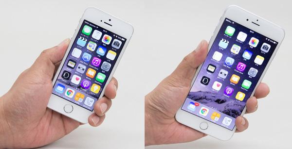 iPhone SEとiPhone 6 Plusを手にしたときのサイズ感の違い