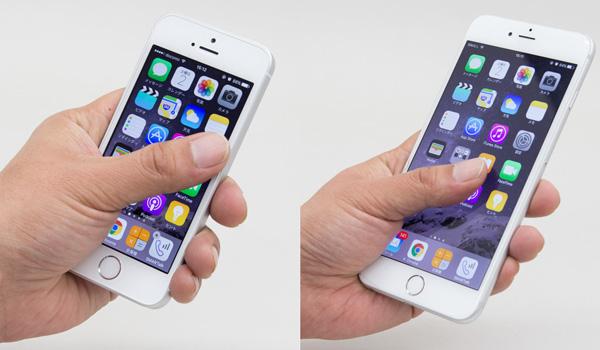 iPhone 6 Plusでは片手操作時に指が画面の端に届かなかったのですが、iPhone SEなら問題なく届きます