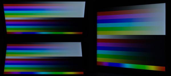 上下左右の視野角が広く、TNパネルのように色合いが極端に変わることがありません
