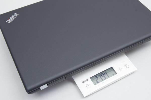 重量は実測で2.39kgでした