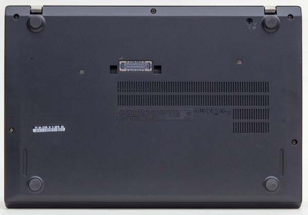 ThinkPad T460sのボトムケース。上部と左右にあるネジを外せば、簡単に取り外せます