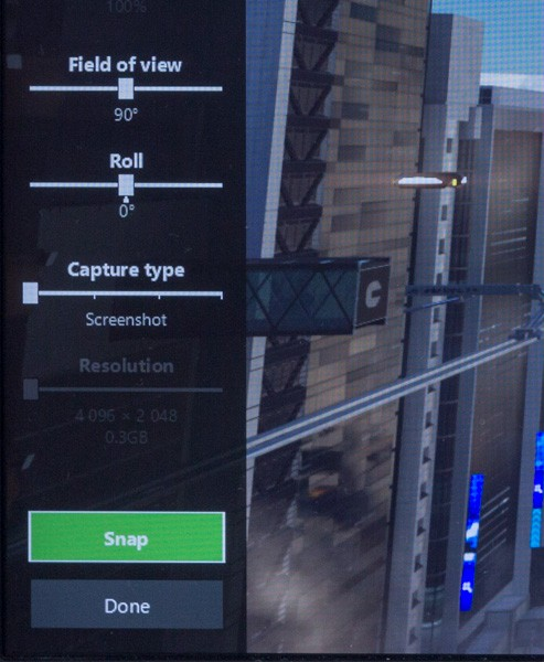 「File of View」で視野の広さ、「Roll」で角度を変更できます