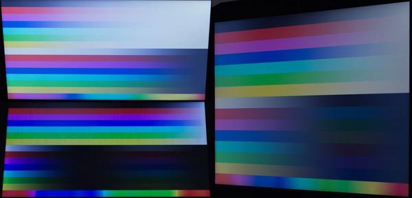 前後と左方向に30度ズラしたときの映像。視野角はあまり広くありません