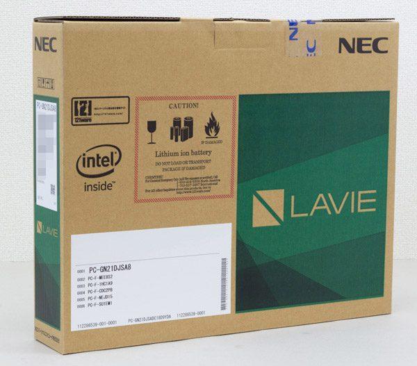 LAVIE Direct NS(e)が収められている箱