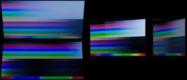 上下30度の角度から見たときと、右方向に30/60度傾けたときの映像