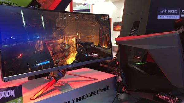 GeForce GTX 1080で「DOOM」をプレーしている様子。