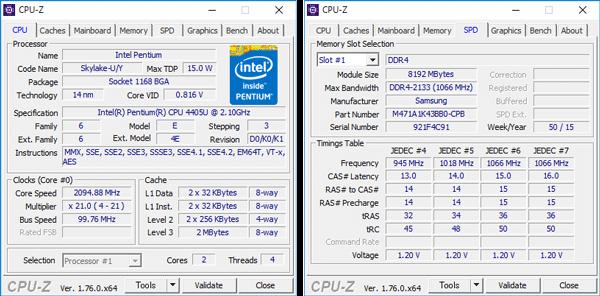 Pentium 4405Uの詳細情報