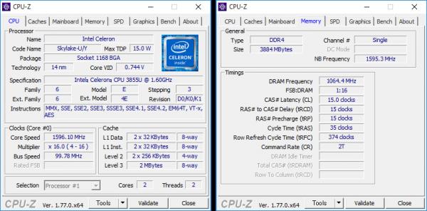 CPU-Z詳細情報