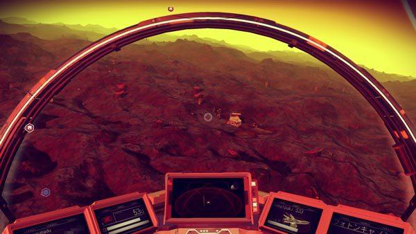 宇宙船からでも建物をしっかり視認できます