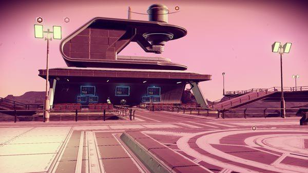 着陸ポートがいくつもあるターミナル的な建造物