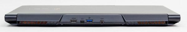 背面にはHDMI、MiniDisplayPort、USB3.0、電源コネクター