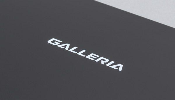 トップカバーには「GALLERIA」のロゴ