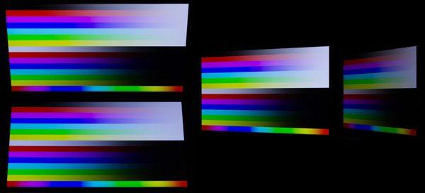 上下30度、左方向へ30/60度傾けたときの映像。視野角はかなり広めです