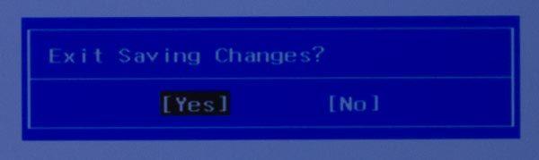 この画面でカーソルキーを操作して「Yes」を選び、Enterキーを押してください
