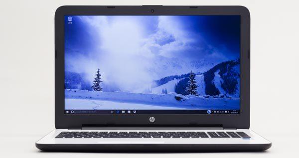 液晶ディスプレイは15.6型でスタンダードなサイズです。解像度が1920×1080ドットである点が、HP 15-ay000最大の特徴です