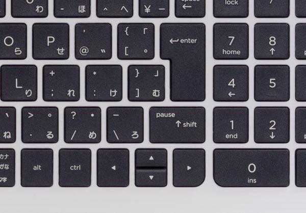 マニア的な視点では、カーソルキーがが逆T字ではなく十字型に配置されている点が唯一気になります