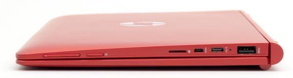 右側面には音量調節ボタンと電源ボタン、microSDカードスロット、microHDMI、USB2.0 Type-C、フルサイズのUSB3.0を用意