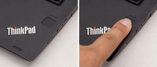 標準搭載の指紋センサー。指を当てるだけでサインインできるので非常に便利