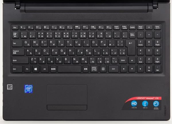 キーボードはテンキーありの102キー構成です