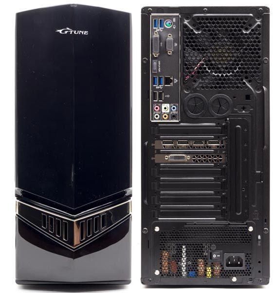 マウスコンピューターのゲーミングデスクトップPCではおなじみのミドルタワー型PCケースが使われています